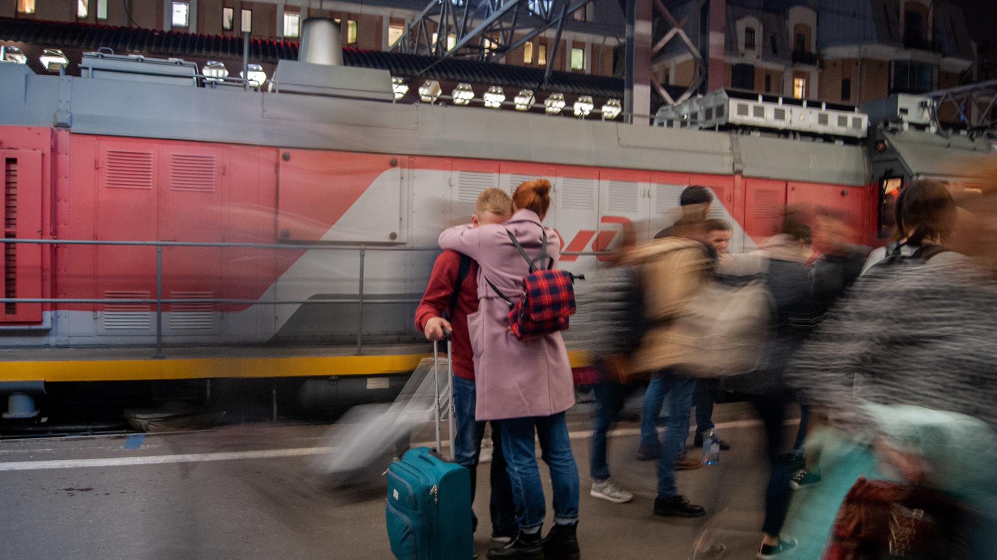 На вокзале. Ангелина Лаврова