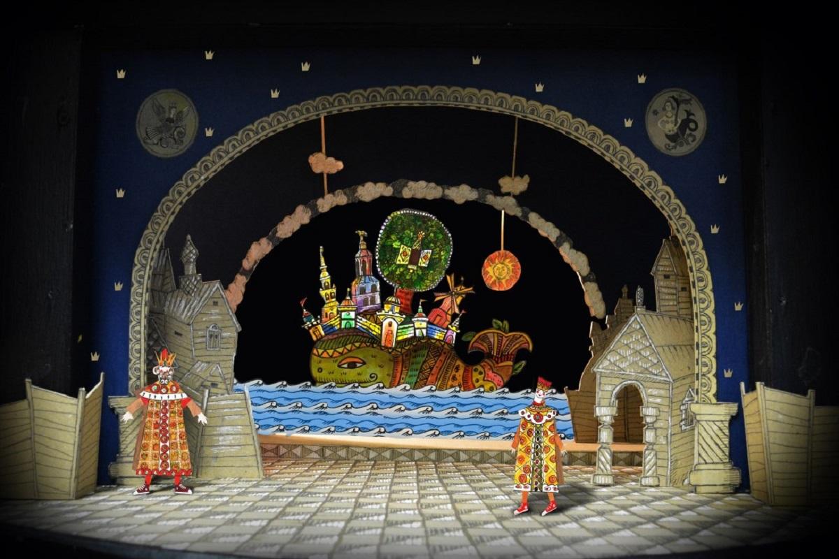 Эскиз кспектаклю «Сказка оцаре Салтане» Норильского Заполярного театра драмы