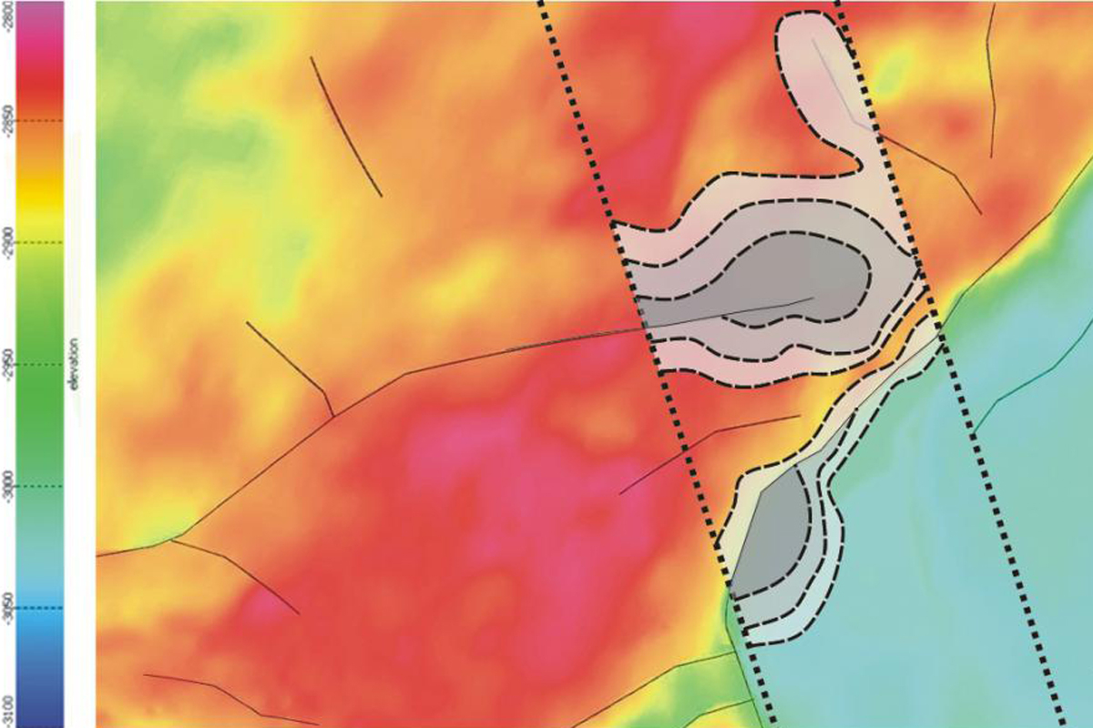 Структурная карта сеймического горизонта