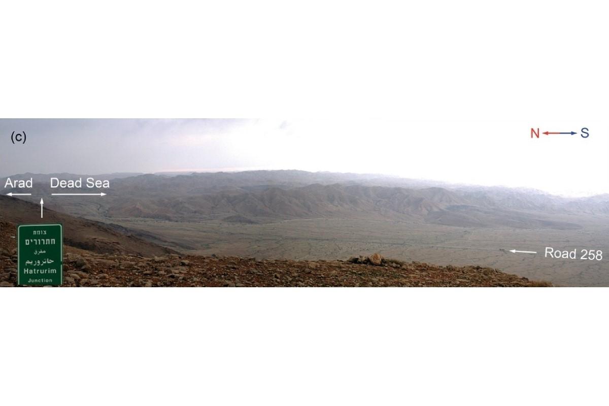 Вид на восток на бассейн Хатрурим (Израиль) © Mineralogical Society of America