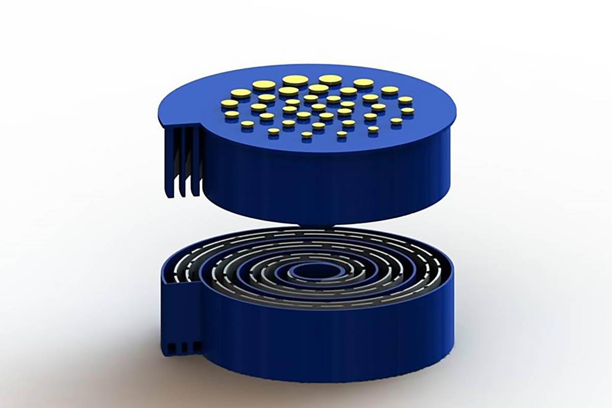 Форма-корпус батарейки