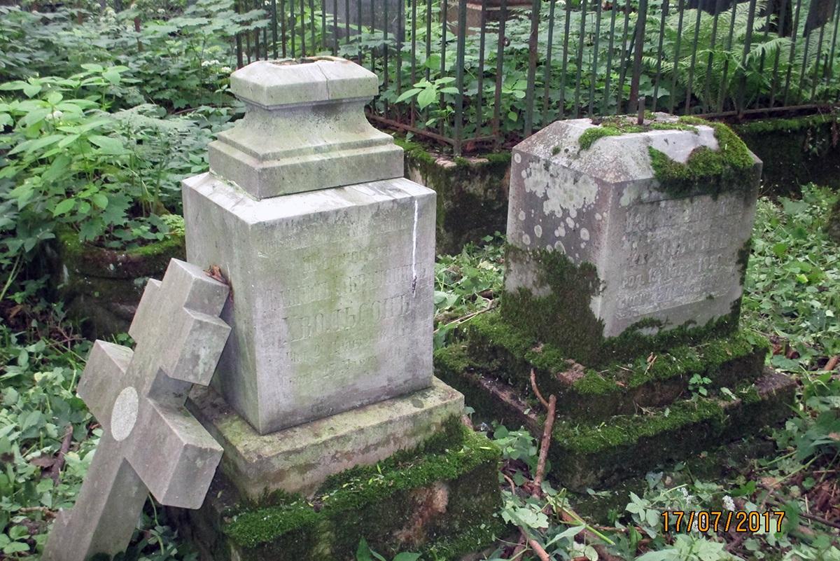 Захоронение Хвольсон до реставрации, 2017 год