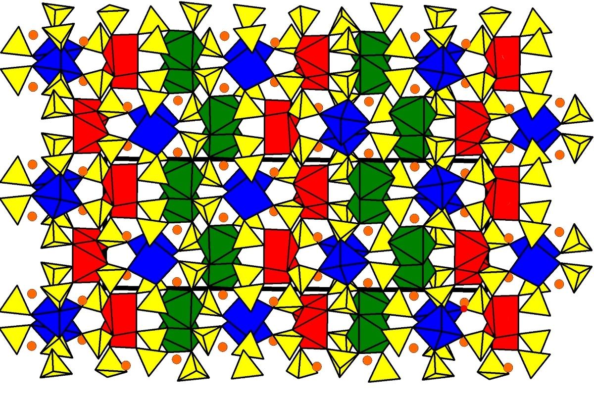 Кристаллическая структура нового минерала ительменита