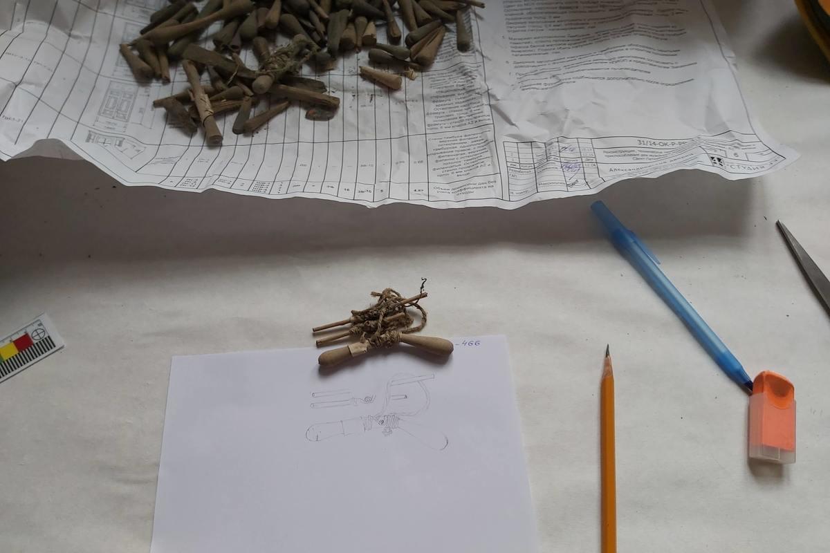 Обработка находок из Кадетского корпуса