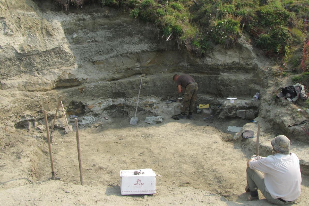 Раскоп на местонахождении у ручья Тээтэ (Республика Саха) / пресс-служба СПбГУ