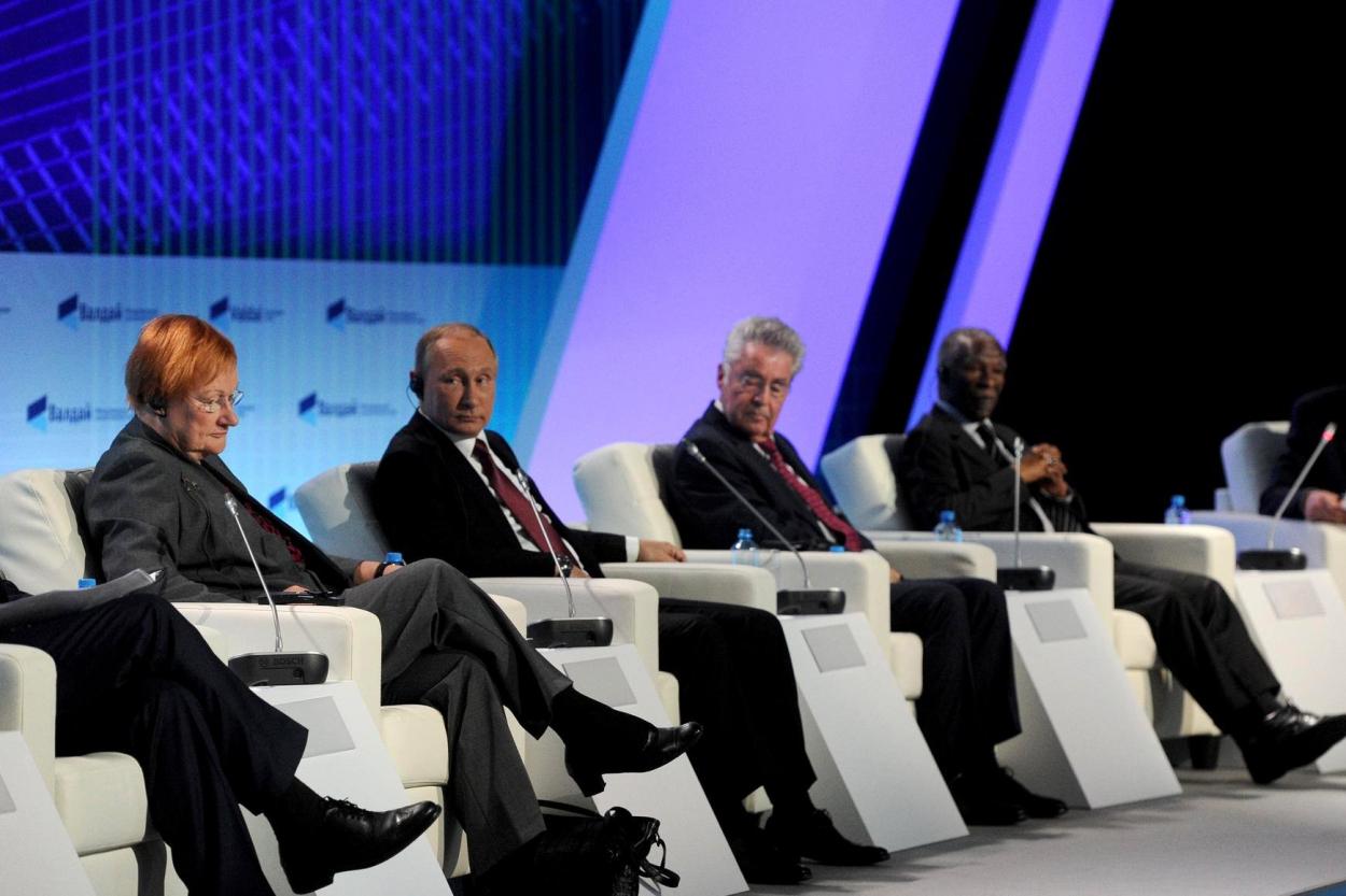 Заседание Международного дискуссионного клуба «Валдай». Фото — сайт Президента РФ
