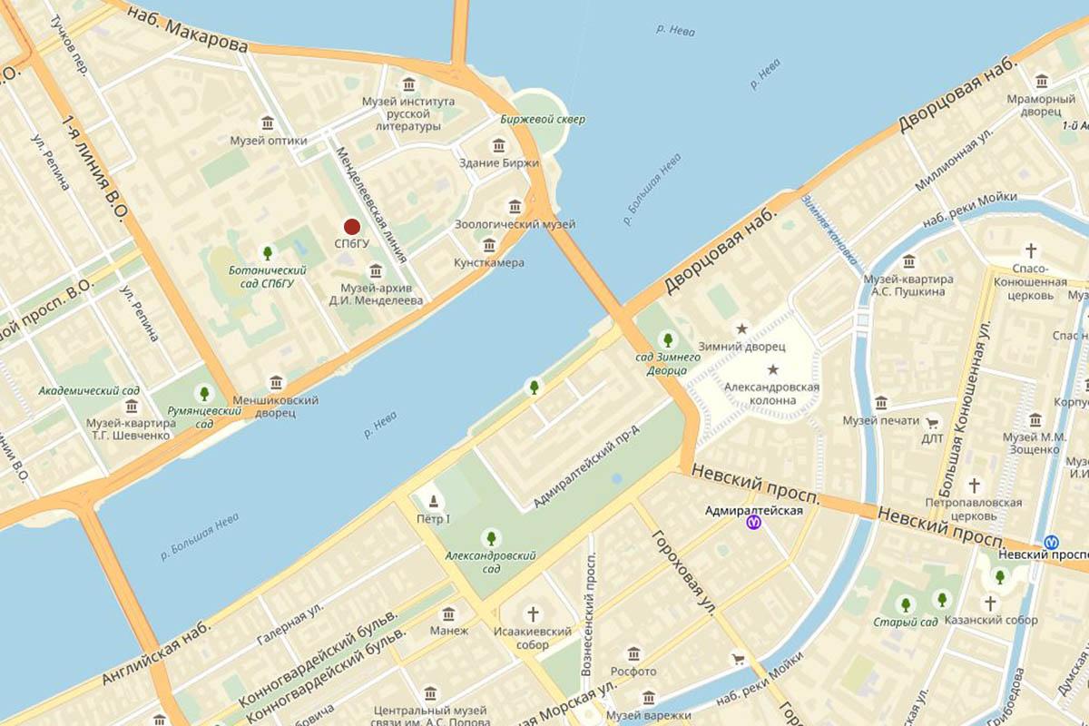 Как добраться: Университет на карте